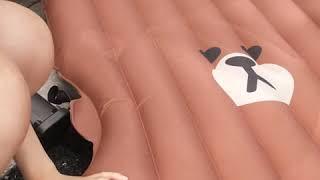 자동차 뒷좌석 접이식 침대 차량용 에어매트 뒷좌석 여행…