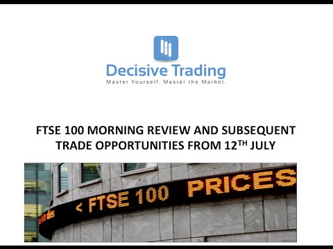 Ftse 100 Review + Live Trade + Opportunities 12th July