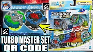 QR CODES TURBO MASTER SET BEYBLADE BURST TURBO APP COLLAB