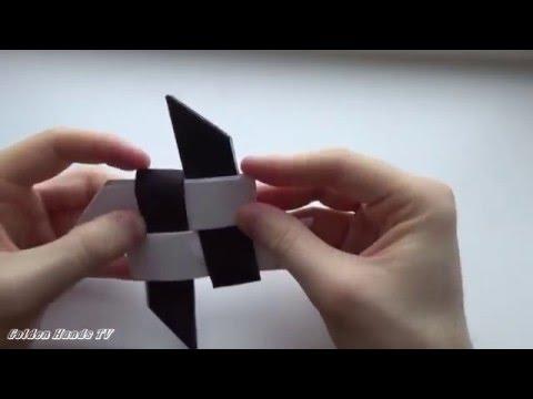 Как сделать сюрикен из бумаги. Звезда ниндзя
