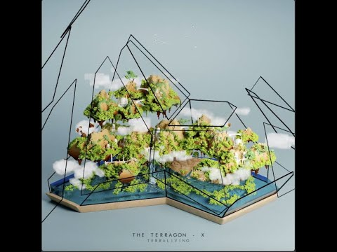 """The Terragon - X, """"Reverse Oasis"""", a satisfying voxel terrarium animation by TerraLiving"""