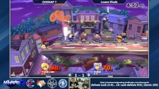 OHSNAP 7 SSB4 Singles Losers Finals: Hyper (Kirby, DK, Toon Link, Wario) Vs. Johan (Sonic, Robin)