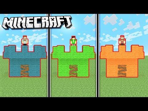 SUB vs. DENIS vs. SKETCH Castle in Minecraft!