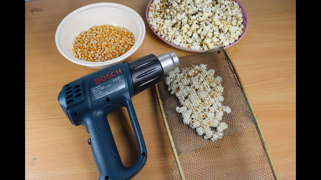 Home made camping popcorn popper (3 ways) How to diy.