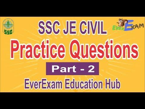 SSC JE CIVIL PRACTICE SET 2018 Part - 2 | EVEREXAM