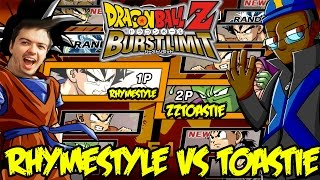Dragon Ball Z Burst Limit: Rhymestyle vs Toastie! WHY DOES HE KEEP PUNCHING ME IN THE DICK?! WHY?!