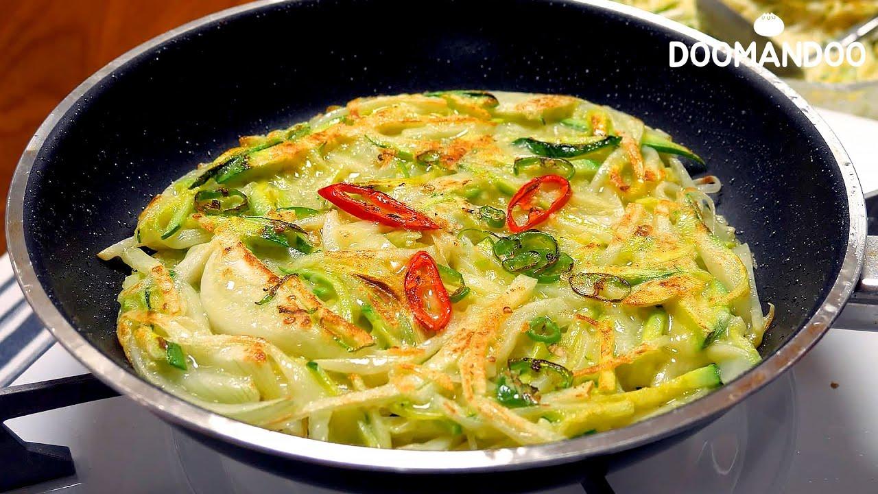 여름에 생각나는 채소전 Korean Vegetable Pancake : 두만두 doomandoo