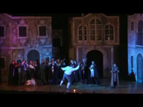 G.Rossini - Barbiere di Seviglia - Scena I.- Fiorello, Almaviva, Coro