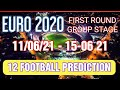 EURO 2020 FOOTBALL PREDICTIONS JUNE 2021 EURO CUP - SOCCER TIPS GROUP STAGE TIPS - BETTING SYSTEMS