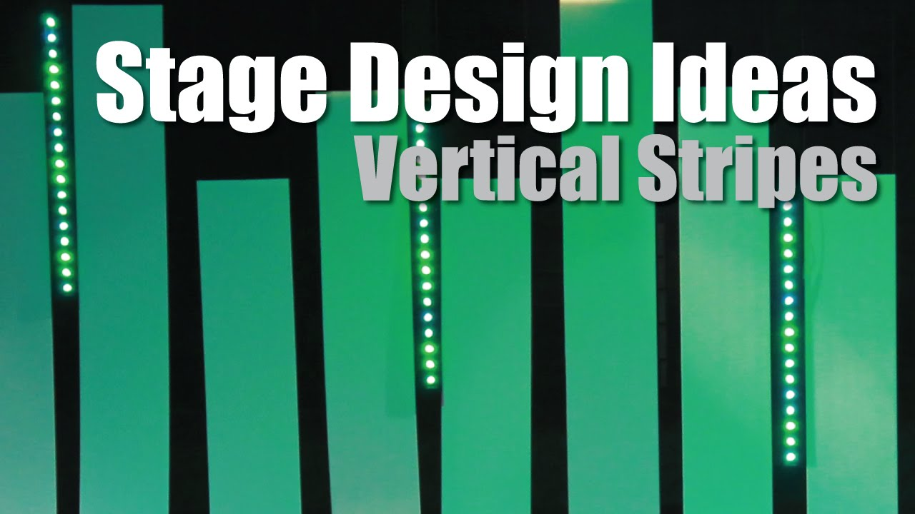 church stage design ideas vertical stripes coroplast - Small Church Stage Design Ideas