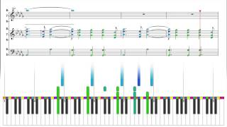 Styx - Come Sail Away - Color Wheel Electronic Sheet Music Reading Animation - Piano Keyboard