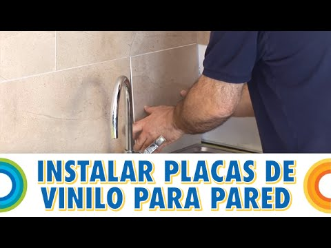 Instalar placas de vinilo para paredes bricocrack youtube for Losetas vinilo pared cocina