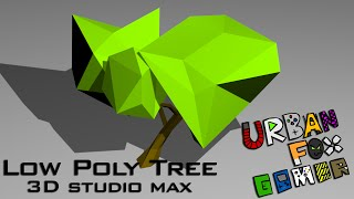 Low poly tree (speed modeling) 3ds max