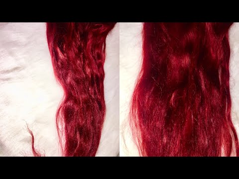 How to dye weave/ bundles Red at home | Adore hair color (Ruby Red & Crimson)