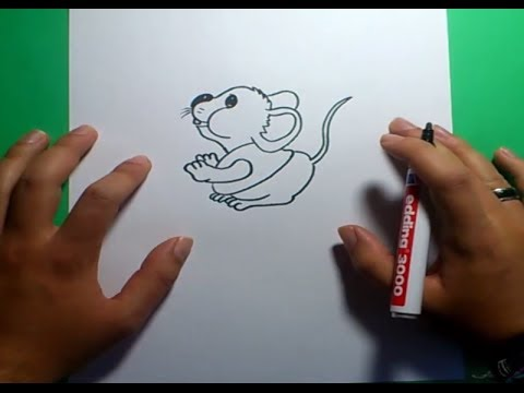 Como dibujar un raton paso a paso 6 how to draw a mouse for Comedor facil de dibujar