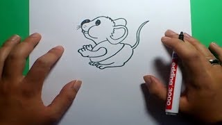 Como dibujar un raton paso a paso 6 | How to draw a mouse 6
