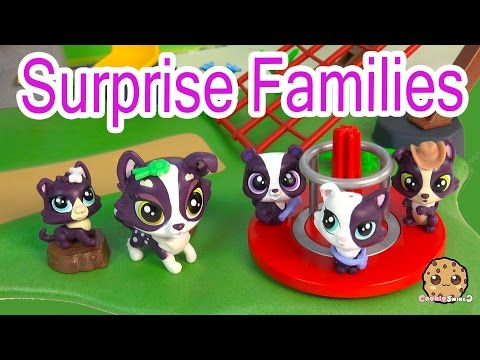 LPS Mom Babies Surprise Families Unboxing Playset - Littlest Pet Shop Toy Video - Cookieswirlc