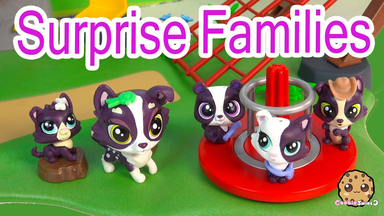 LPS Mom Babies Surprise Families Unboxing Playset - Littlest Pet Shop Toy Video - Cookieswirlc ...