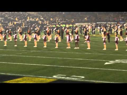 DMS Cheering at the Navy Game