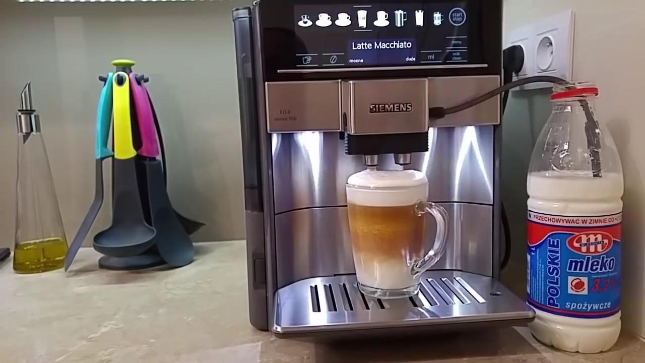 ekspres ci nieniowy siemens eq 6 te607203rw test latte macchiato bosch tes60523rw youtube. Black Bedroom Furniture Sets. Home Design Ideas