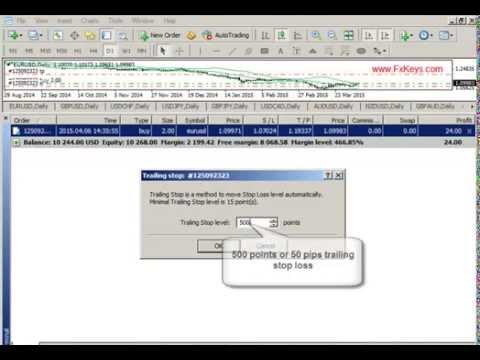 How To Set Trailing Stop Loss On Mt4 Youtube