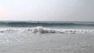 2015・10・22 多田戸 の波の様子・台風の影響による強いうねり。