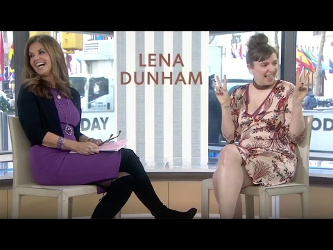 "Lena Dunham Says ""P****"" on the Today Show, Matt Lauer Walks Off!"
