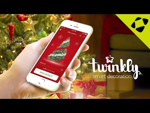 Twinkly Smart Christmas Tree LED Lights - Create Amazing Lighting Animations from your Smartphone