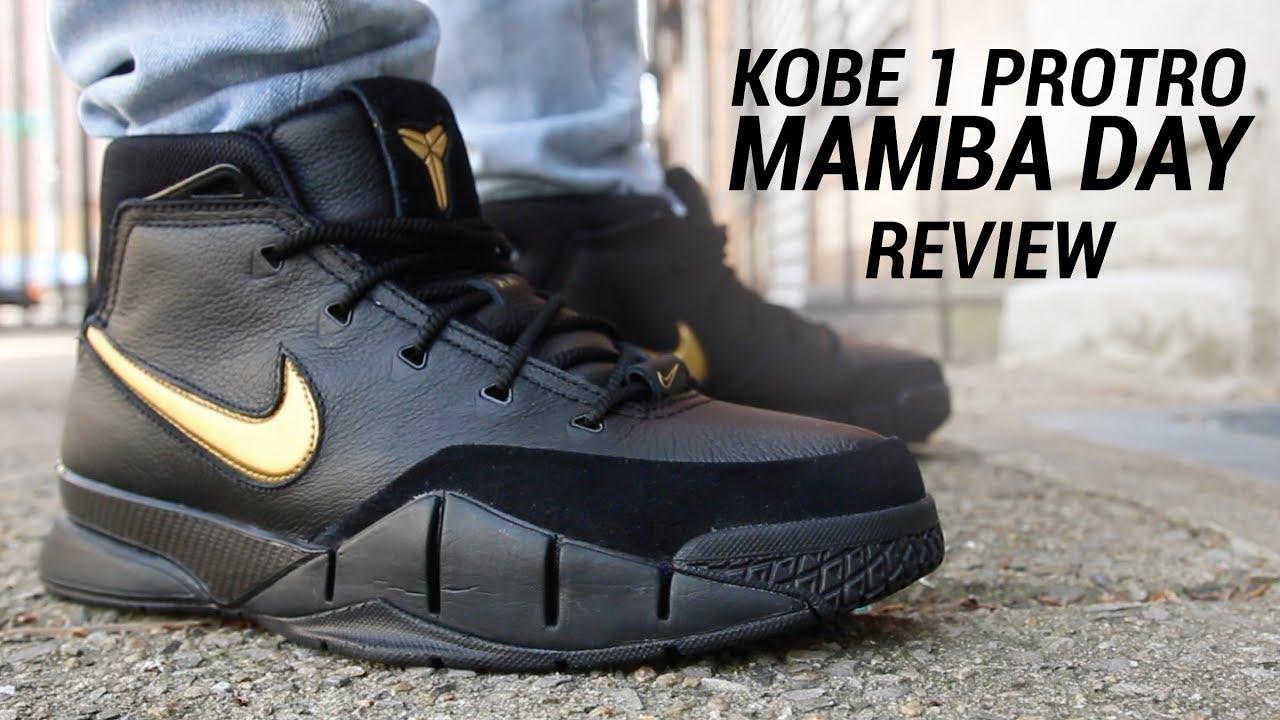 NIKE KOBE 1 PROTRO MAMBA DAY REVIEW - YouTube 859eca31b