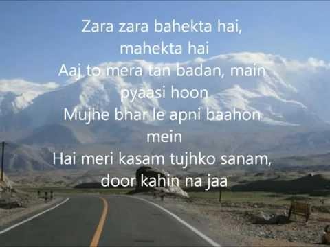 Zara Zara Lyrics [VASEEGARA VASEEGARA ] -----A.HARISH--JAFFNA