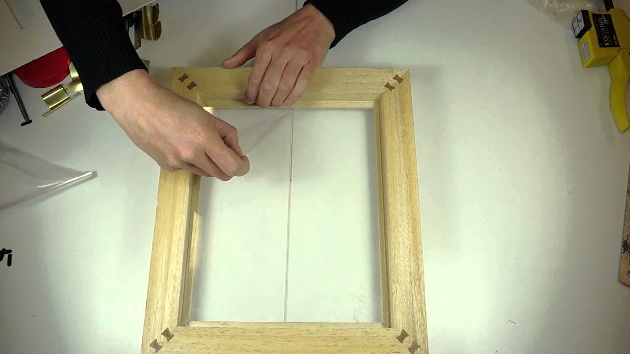 Glazing a Jackson\'s Picture Frame - YouTube