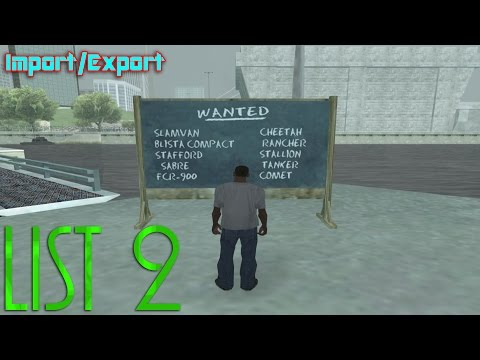 GTA San Andreas - Import/Export (List 2)