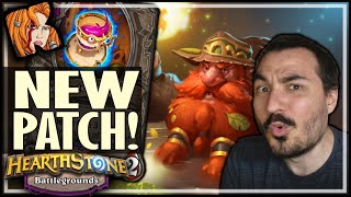 NEW BG PATCH! GUESS WHAT I PLAYED?! - Hearthstone Battlegrounds