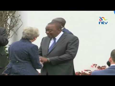 Theresa May arrives at State House for the UK- Kenya bilateral talks