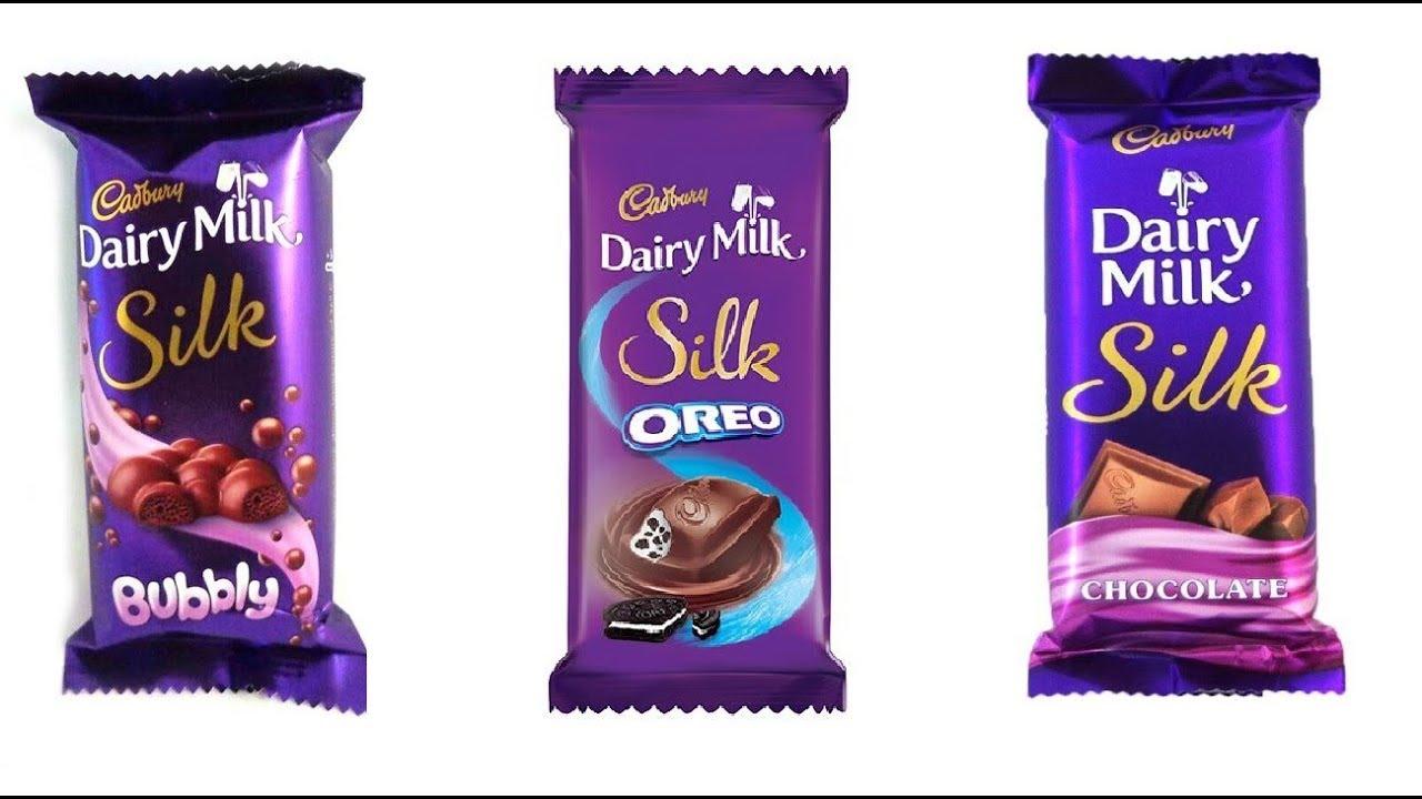 Cadbury Dairy Milk Silk Dairy Milk Silk Oreo Dairy Milk Silk Bubbly