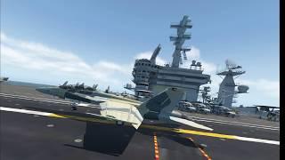 XP11 VR Fighter Jet landing on Carrier