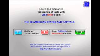 MEMORIZE THE AMERICAN STATES AND CAPITALS