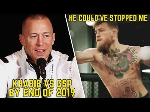 Khabib will fight GSP end of 2019; Paulie admits McGregor could've stopped him in sparring match