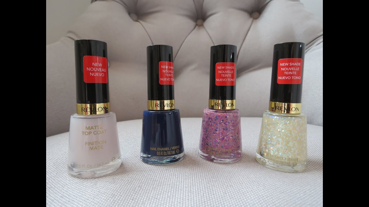 NEW Revlon Bubble Gum Days & Urban Nights Nail Polish - YouTube