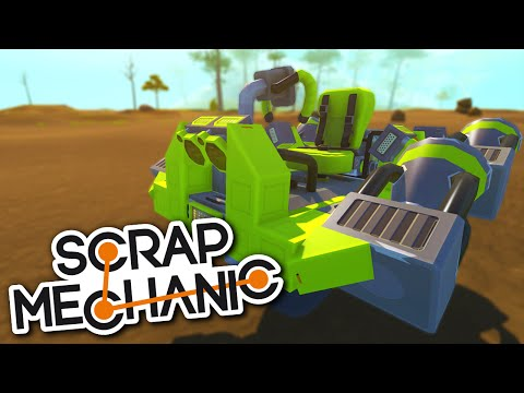 Scrap Mechanic CREATIONS - AROUND THE WORLD CHALLENGE (NEW WORLD RECORD)