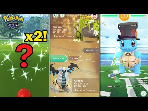 CAPTURO 2 SHINIES, GROUDON SHINY CON SUERTE, HORA LEGENDARIA De DARKRAI Y MÁS - POKEMON GO