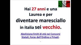 abolizione dei limiti d'età nei concorsi pubblici polizia carabinieri finanza marina militare