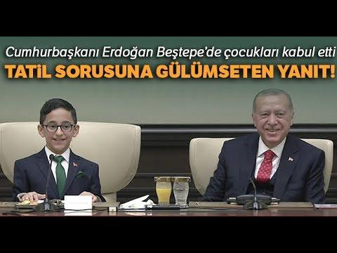 Cumhurbaşkanı Erdoğan Beştepe'de Çocukları Kabul Etti