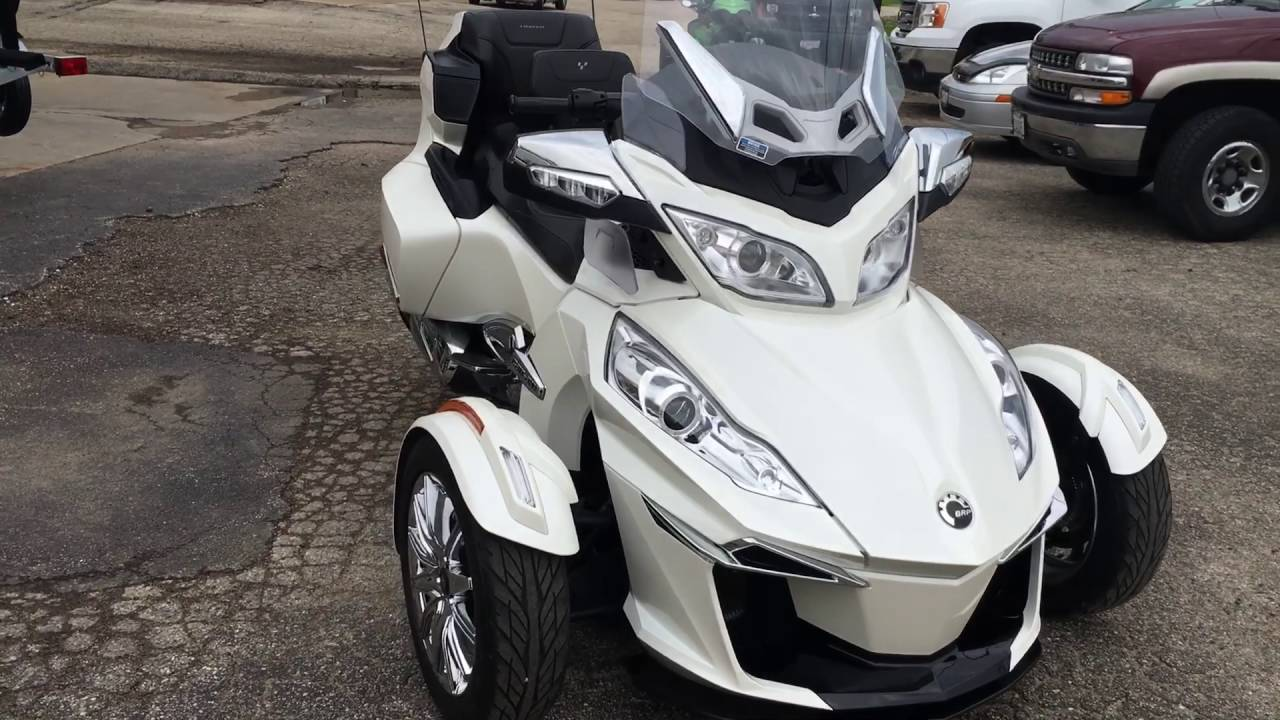 Nice pre owned 2014 can am spyder rt limited in pearl white