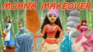 Disney Princess Spa Day Starring Belle, Moana and Frozen Sisters!