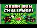 Pixel Gun 3D - Green Gun Game Challenge! (Using ALL Green Weapons)