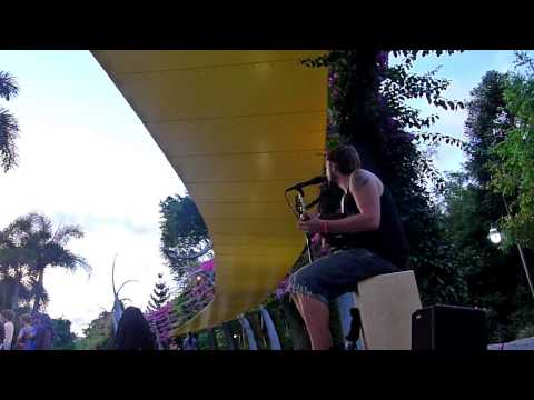 Going To California Led Zeppelin - Daryl James (Busking in Brisbane)