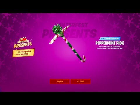 How To Get A FREE PICKAXE By Opening This SPECIAL GIFT In FORTNITE! (Peppermint Pickaxe Glitch)