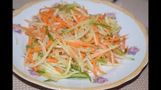 Салат из зеленой редьки  Мега вкусно и полезно