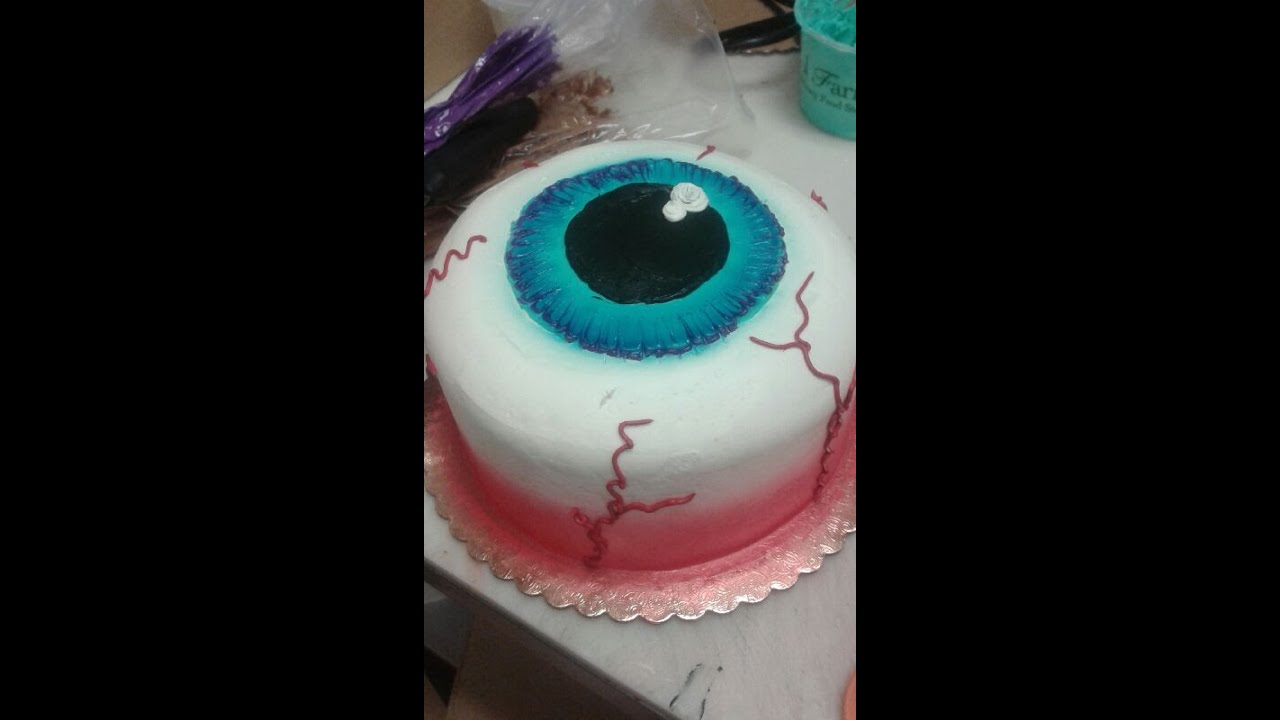 Halloween Cake Decorating Pictures : Eyeball Cake- Halloween- Cake Decorating Doovi